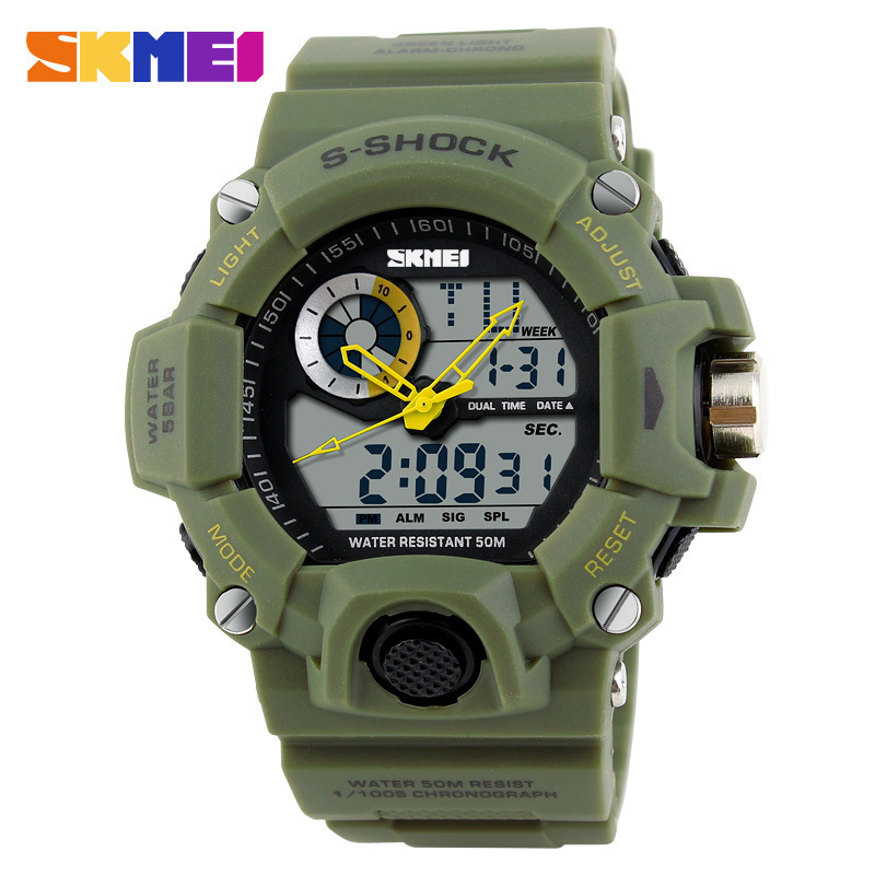 2016 New Arrival style Quartz Digital Dual Time Watches Men Fashion Man Sports Watches Luxury Brand