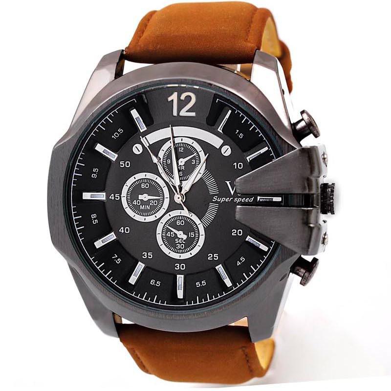 2015 fashion big dial v6 watches men luxury brand sports watch Top quality military quartz wristwatches men relogio masculino<br><br>Aliexpress