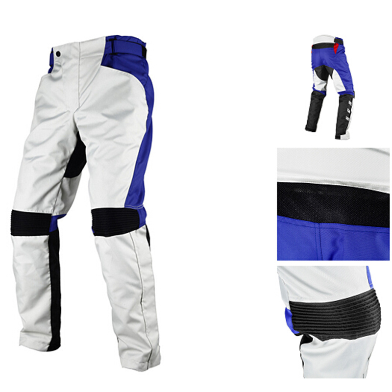 DUHAN Men's Oxford cloth fabric Motocross Pants Motocicleta Motos Racing Windproof Trousers Knee Protective Pantalon 015-WT
