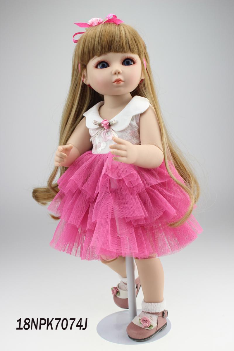 Фотография 45cm/18inch high quality Lifelike SD /BJD jointed doll lovely girl dress up toys boneca brinquedos para meninas