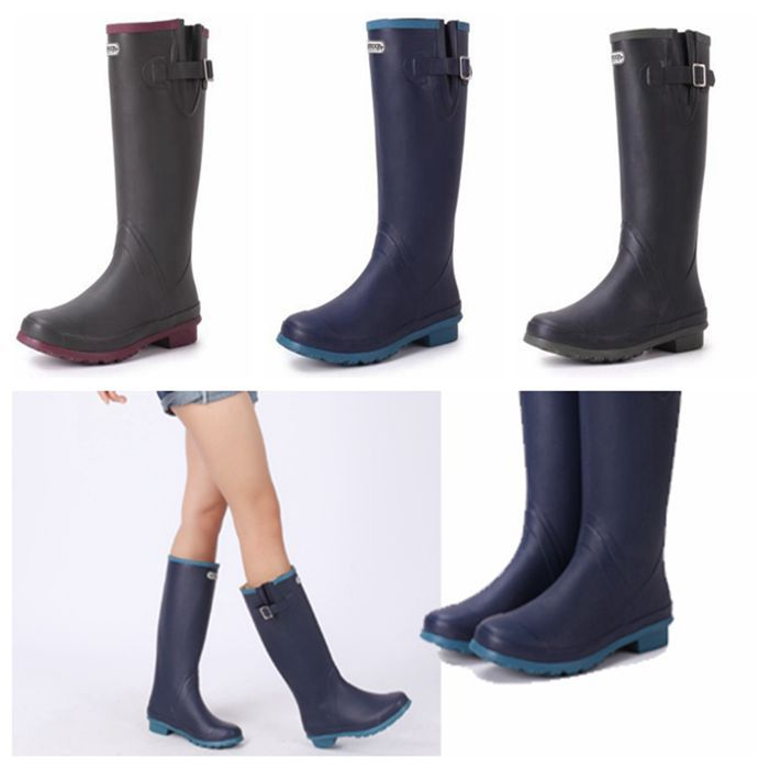 Здесь можно купить  2014 free shipping brand hun-terr Natural rubber rain boots,waterproof women wellies boots,women boots  Обувь