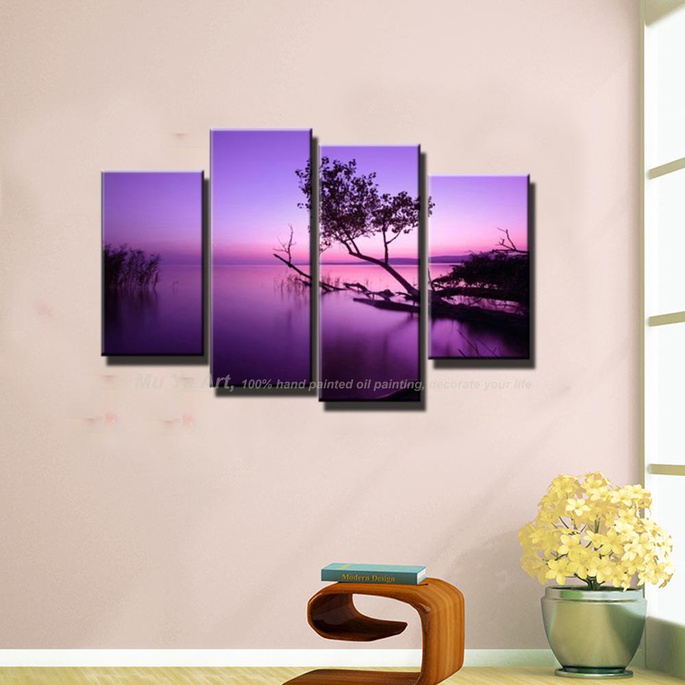 Online kopen wholesale paars schilderijen uit china paars ...