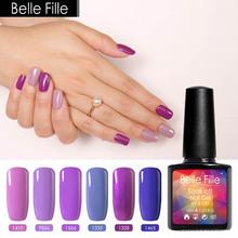 Buy 10ml Purple Series Color Gorgeous Colors Varnish Nail Polish UV Led Gel Lak Bling Soak Holographic Nail Polish Gel Nail Kits for $1.88 in AliExpress store