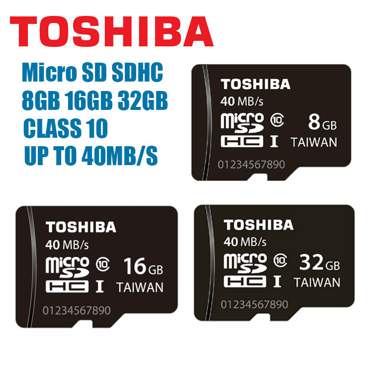 100% Genuine Toshiba micro SD SDHC Class 10 UHS-I 40MB/s Memory Card 32gb 16gb 8gb Real Capacity Support Official Verification(China (Mainland))