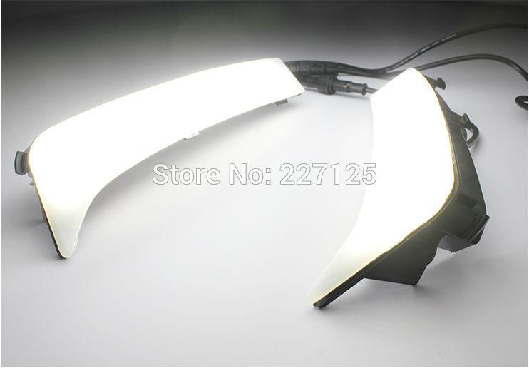 Светодиодными фарами дневного света авто дневной свет DRL автомобилей противотуманной фары для Subaru 2014 новый