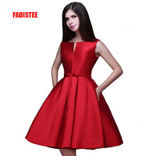 New design A-line short dresses V-opening back cocktail party lace-up dress veatidos de festa Hot sale free shipping(China (Mainland))