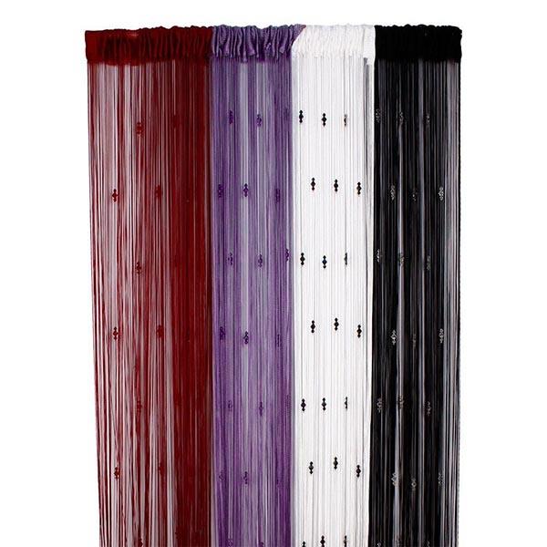 romantique rideau d coratif string avec 3 perles porte fen tre panneau paravent dans cloisons. Black Bedroom Furniture Sets. Home Design Ideas