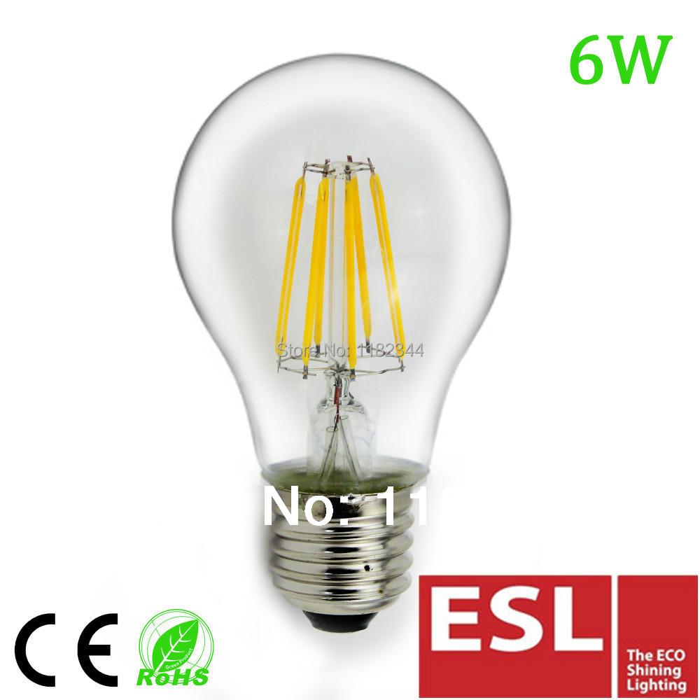 10pcs/lot High Qulity high Lumen 800lm Glass housing LED filament bulb 8W/4W 360 Degree Warm white AC230V E27 Led bulb(China (Mainland))