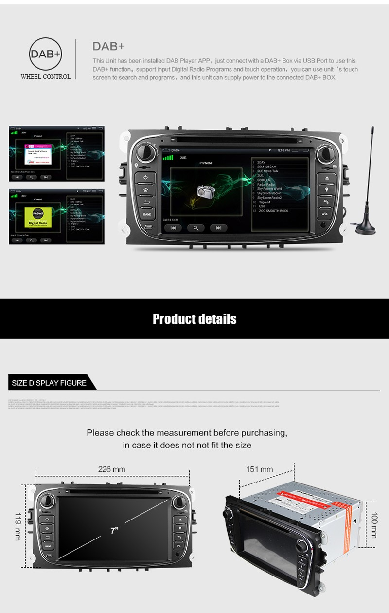 Free Shipping Android 5.1 Car DVD Player with GPS System For Ford Focus Mondeo C-Max S-Max 2008 2009 2010 2011 2012 2013 2014