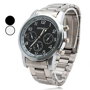 Наручные часы 2015 мода мужской деловой стиль сплава кварцевые наручные часы мужчин-мужские легированной стали свободного покроя мода человек смотрит подарок