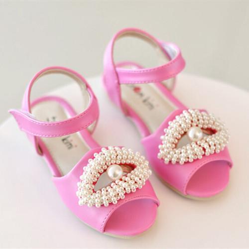 2015 summer new fashion Kids Children shoes Girls sandals Princes Baby sweet pearl fish head - Hangzhou Dolda Tech. Co., Ltd. store