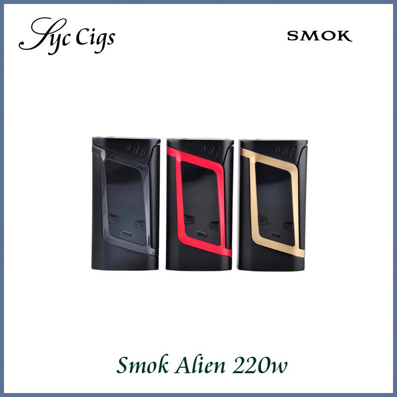 ถูก ของแท้100% smokคนต่างด้าว220วัตต์TCกล่องบุหรี่อิเล็กทรอนิกส์สมัยTempretureควบคุม18650 VapeสมัยSmokคนต่างด้าวสมัย