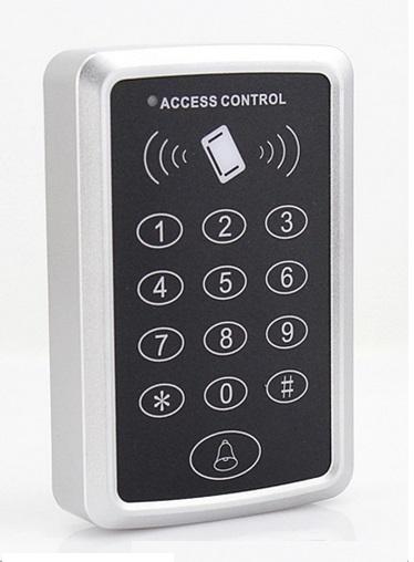 RFID Proximity Card Access Control System RFID/EM Keypad Card Access Control Door Opener +10pcs ID keyfobs(China (Mainland))