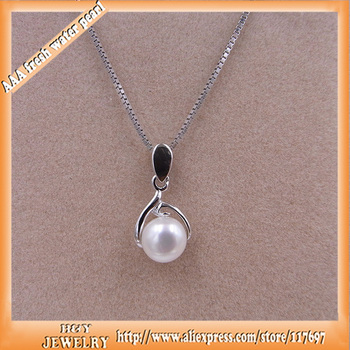 Guaranty high quality cheap price silver freshwater pearl jewelry pendant