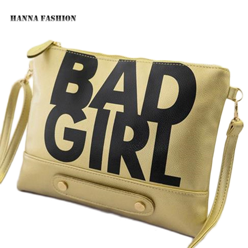 Гаджет  With Good Gifts!2015 European trendy BAD GIRL letters handbag women shoulder bag ipad bag women day clutch bags None Камера и Сумки