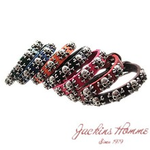 Accessories skull rivet cowhide handbag accessories genuine leather bracelet free shipping(China (Mainland))