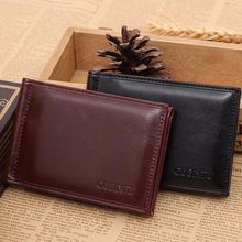 Excellent Quality Bifold Wallet Men's Leather Slim Purse Money Clips Clutch Purse Portefeuille Feminina Monedero for Gift(China (Mainland))