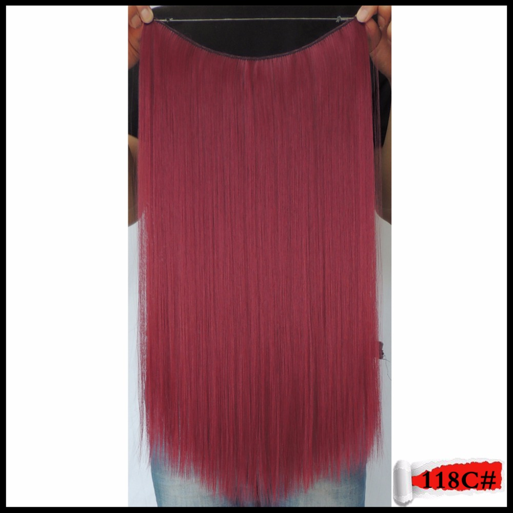 118c Dark Red Halo Synthetic Flip in Hair Extension Straight 50cm Fashion Hairstyle Hairpiece Apply Hair Haar Extenstions 50g(China (Mainland))