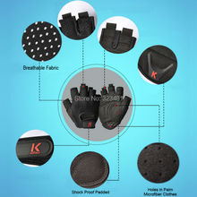 2015 Kortela Superior Wearable Gym Training Weight lifting gloves for men Sport Gloves cycling bike Half