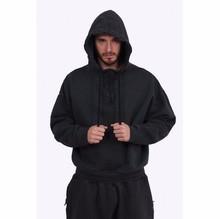 2016 New Top Kanye West YEEZY SEASON oversized pullover hoodie black Brown HipHop YEEZUS HBA Men Extended Middle Zip Sweatshirt - Hip-Hop Tshirt store