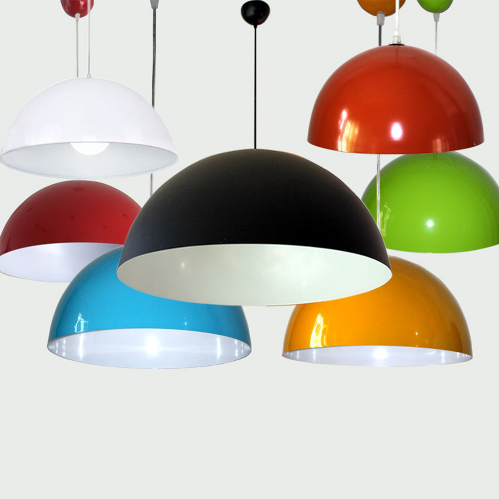 1pc Dis30cm Semi-circle Shape Colorful Aluminum Pendant Light Country Style Pendant Lamp without Bulb for Restaurant Study Home(China (Mainland))