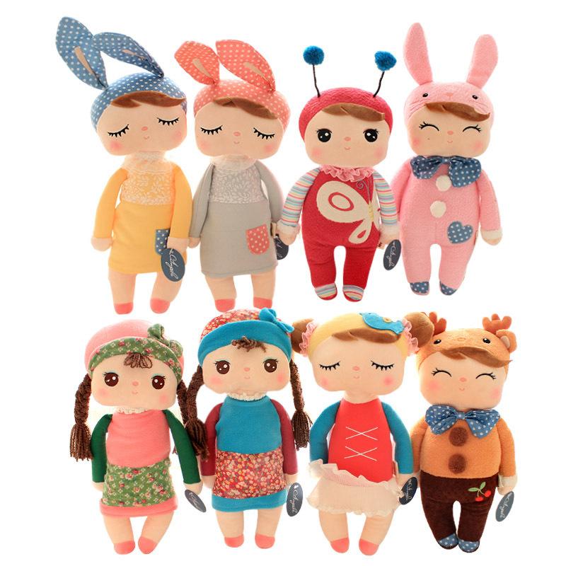 Cute Metoo Angela Dolls for Girls with Gift Bag Bunny Plush Toys Stuffed Animals Rabbit Bee Panda Children Birthday Party Gifts(China (Mainland))