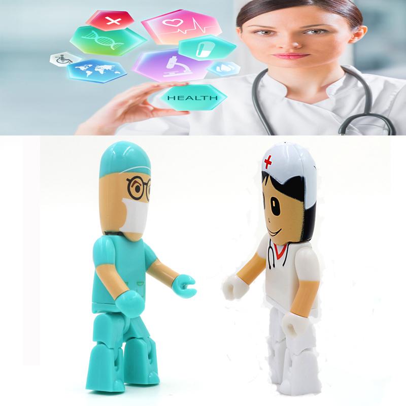 Doctors and nurses pen 4G 8GB 16GB 32GB 64GB drive model Plastic 2.0 USB Flash drive memory stick thumb free drive download(China (Mainland))