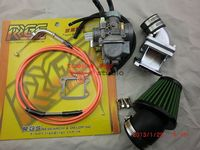 Racing power 28MM jet carburetor+ intake manifold+48MM air filter+RRGS racing cable throttle dio