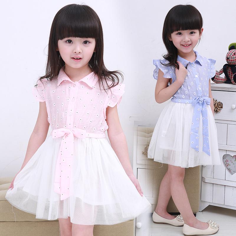 Korean Fashion Flower Kids Dresses For Girls Children 39 S
