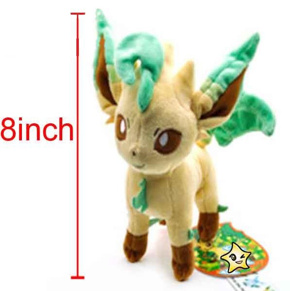 Wholesale Pokemon Plush Toys Pikachu Fluffy Toys Leafeon 20cm the Anime Cute mini Toys Kids birthday Gift 1028(China (Mainland))