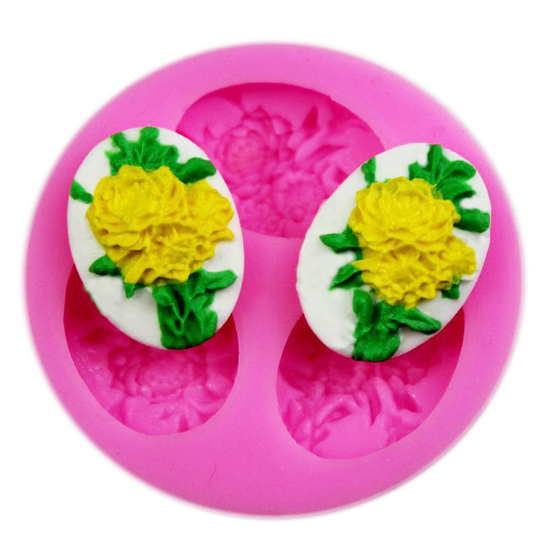 3D Flower Silicone mold small sugar candy mold resin flower soap soap flakes cake tools 50-97(China (Mainland))
