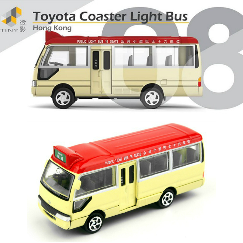 Tiny City 08 Toyota Coaster Light Bus Hong Kong Brand 1/64 Diecasts Model Cars Toy Vehicle(China (Mainland))
