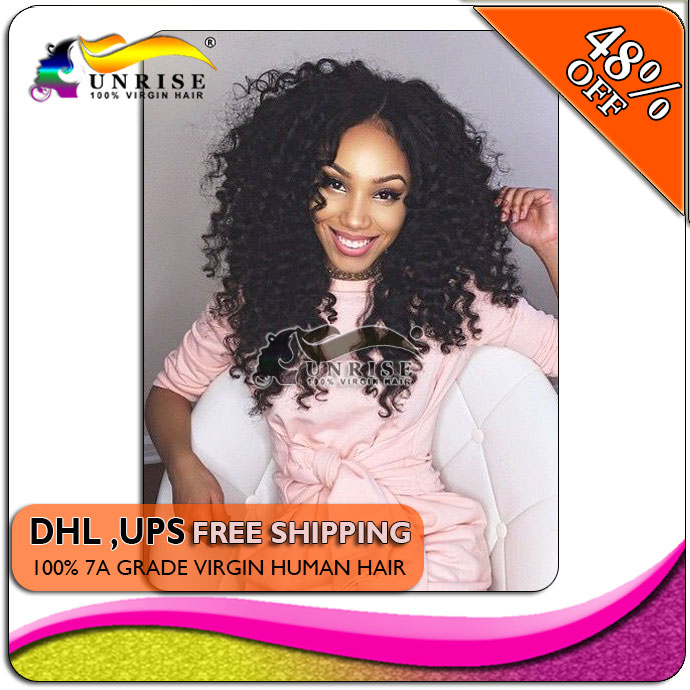 Free shipping curly front lace wigs human hair, virgin Hair lace Wig curly full Lace Human Hair Wigs bleahced knots(China (Mainland))