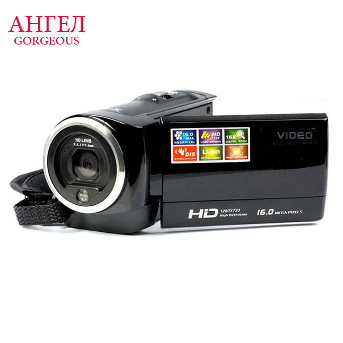 Hot Sale 16X Zoom HD Digital Camera 2.7 LCD 16Mp Digital Video Recorder Camera Single Le SLR Camera Mini Action Camera Camcorder(China (Mainland))