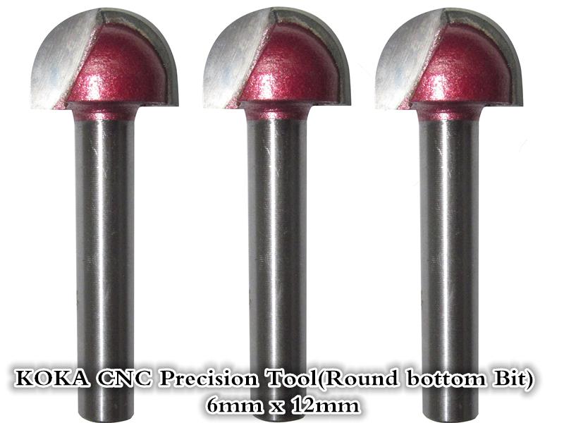 6mm*12mm,CNC Tungsten steel Round bottom bit,CNC machine tool,PVC,MDF,Acrylic,Carbide end mill,woodworking insert router bit(China (Mainland))