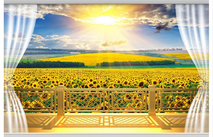 Buy 3d wallpaper custom mural beauty non for Balcony wallpaper