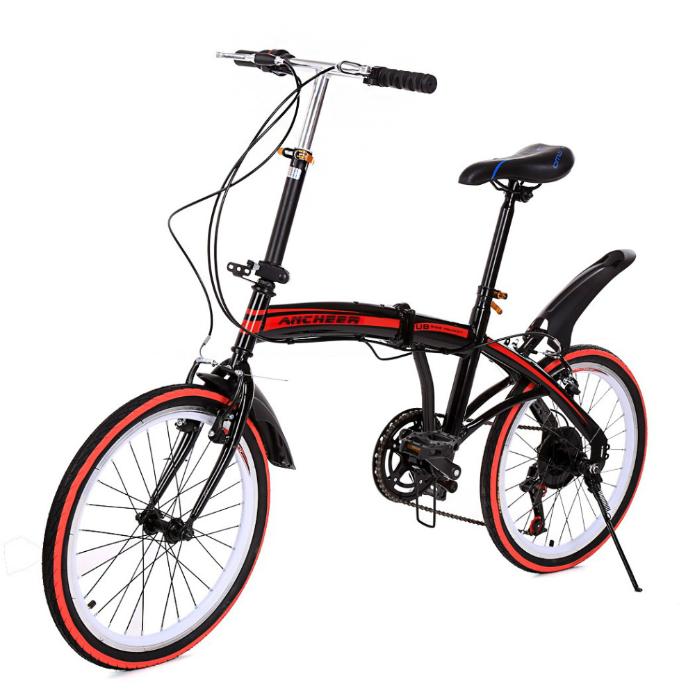 New Adjustable Folding Bike 20 inch Aluminum Wheel Frame Hardtail Disc Brakes Cycling Road Bicycle for Students Adults Bicicleta(China (Mainland))