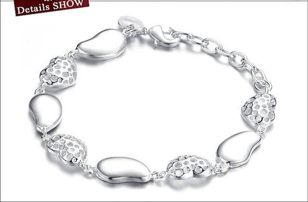 925 Sterling Silver Bracelet - Double cut curb 7.5 inch -ratail store