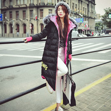 2016 Winter New Fashion Women Down Jacket Real Large Siliver Fox Fur Collar Hooded Thickening Duck