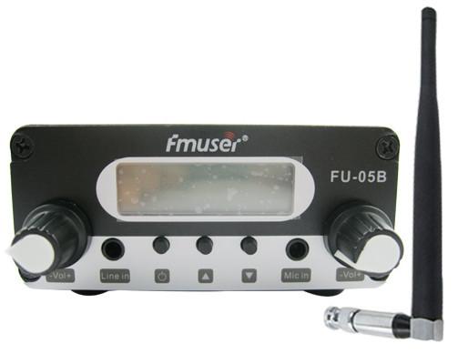 Фотография 1mw CZH-05B CZE-05B FU-05B pll 87-108mhz fm transmitter broadcast stereo mic short antenna power kit
