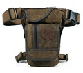 New Men s Canvas Waist Drop Leg Fanny Pack Belt Hip Bum Travel Hiking Motorcycle Military