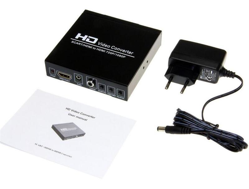 Full HD 1080P Video Converter Scart HDMI Converter Digital Audio Coaxial Wandler(China (Mainland))
