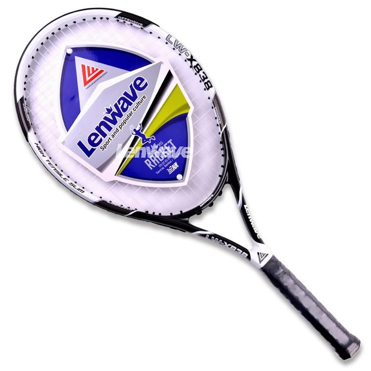 Carbon Aluminum Head Tennis Racket Lenwave Brand Men and women sports training Raquete 838#