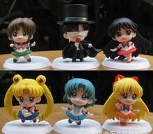 hot toys Sailor Moon 6pcs LPS toys pokemon kids toys funko pop anime deadpool zootopia PVC