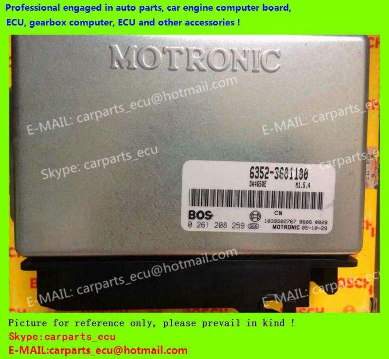 For Changhe car engine computer board/ECU/ Electronic Control Unit/Car PC/ 0261208259 6352-3601100 /driving computer(China (Mainland))