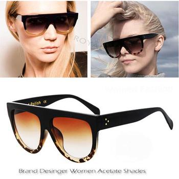 High Quality Women Brand designer Sunglasses Acetate Sun shades gradient Sun Glasses ss164