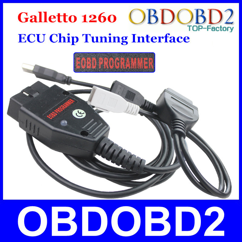 Factory Price Galletto 1260 ECU Chip Tuning Interface OBDII Galletto ECU Flasher EOBD-1260 Programmer By Read & Write Car's ECU(China (Mainland))