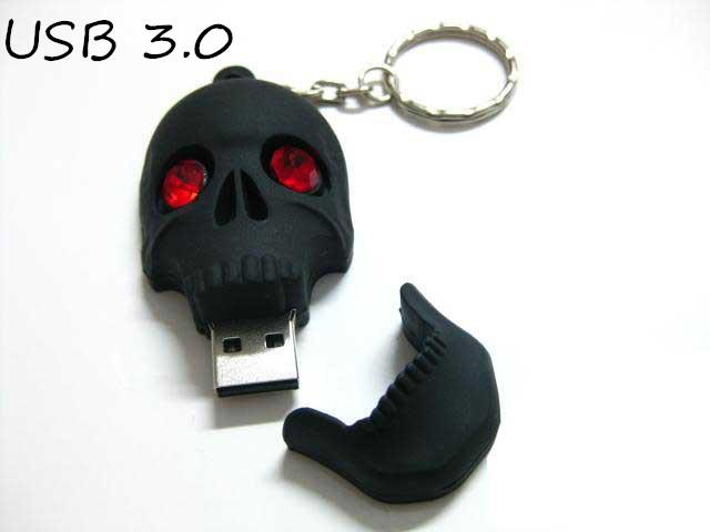 New arrival USB flash drive High-speed Skull USB 3.0 Flash Memory Stick Pen Drive 4GB- 64GB Creative Pendrives 3ZZ59(China (Mainland))