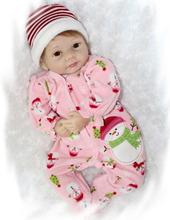 "Buy 22"" Lifelike Silicone Reborn Baby Alive Vinyl Realistic Newborn Girl Doll Kids Playhouse Toy Gift Women Nursery Training Collect"