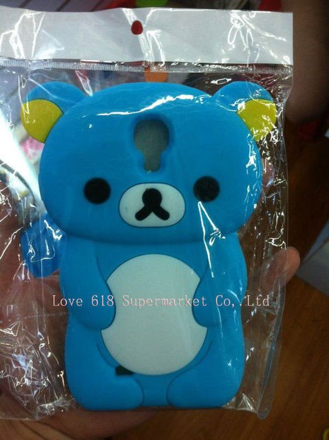 Free shipping For Samsung Galaxy s4  i9500 Bear  Design Silicon  Cellphone Cases